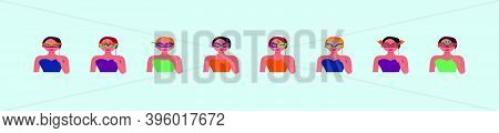 Happy Carnival Festive Concept With Women Musical Trumpet Mask. Carnival Mask. Vector Modern Illustr
