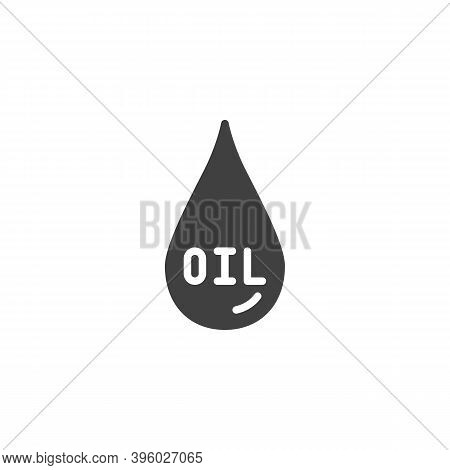 Crude Oil Drop Vector Icon. Filled Flat Sign For Mobile Concept And Web Design. Oil Drop Glyph Icon.