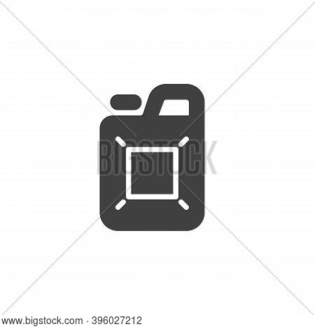 Gasoline Canister Vector Icon. Filled Flat Sign For Mobile Concept And Web Design. Jerry Can, Canist