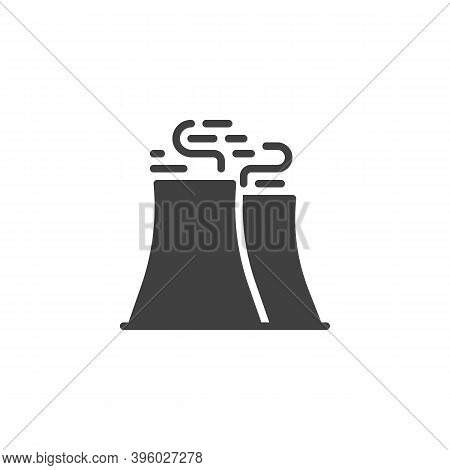 Refinery Factory Pipe Vector Icon. Filled Flat Sign For Mobile Concept And Web Design. Factory Indus
