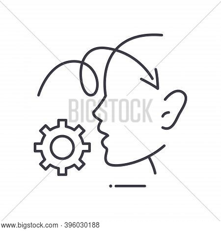 Perception Process Icon, Linear Isolated Illustration, Thin Line Vector, Web Design Sign, Outline Co