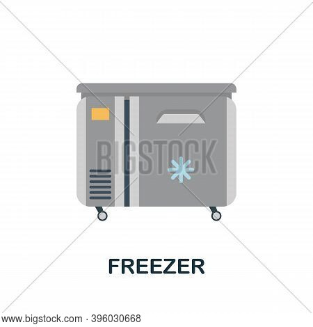 Freezer Icon. Simple Element From Kitchen Appliances Collection. Creative Freezer Icon For Web Desig