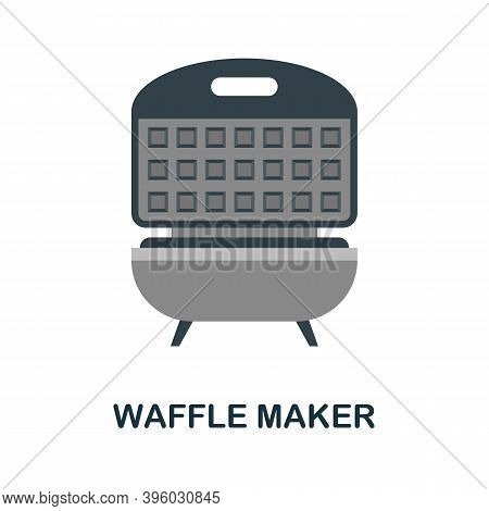 Waffle Maker Icon. Simple Element From Kitchen Appliances Collection. Creative Waffle Maker Icon For