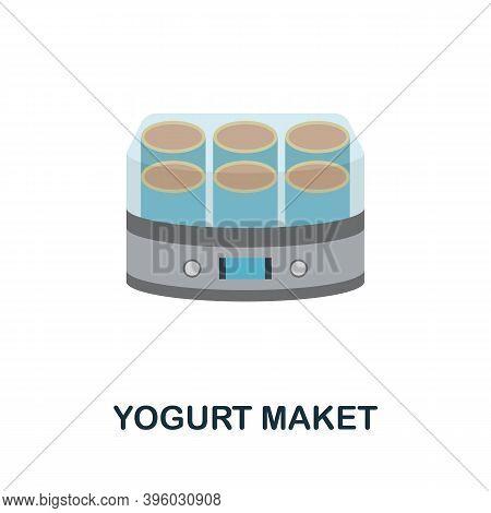 Yogurt Maket Icon. Simple Element From Kitchen Appliances Collection. Creative Yogurt Maket Icon For