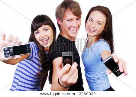 Mobiltelefone Bildschirm anzeigen