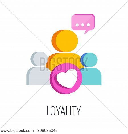 Loyality Brand Icon. Loyal Consumer. Regular Customer.
