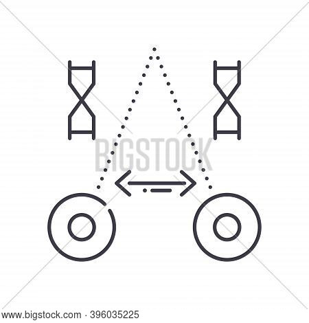 Physiology Icon, Linear Isolated Illustration, Thin Line Vector, Web Design Sign, Outline Concept Sy