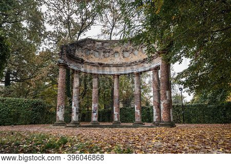 The Tempietto D'arcadia: Small Temple In Neoclassical Style In The Ducal Park Of Parma, Italy.