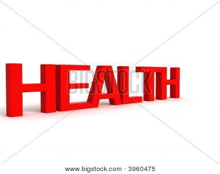 Three Dimensional Letters Of Health
