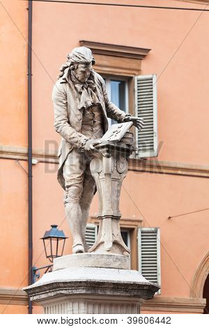 Statue Of Luigi Galvani In Bologna, Italy