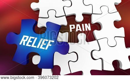 Pain Relief Puzzle Piece Feel Better Medical Help 3d Illustration