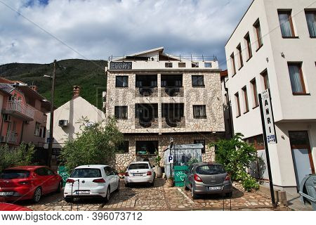 Mostar, Bosnia And Herzegovina - 04 May 2018: The Old Town Mostar, Bosnia And Herzegovina