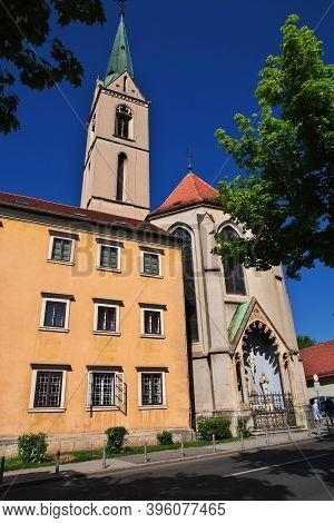 St. Francis Church In Zagreb City, Croatia, Balkans