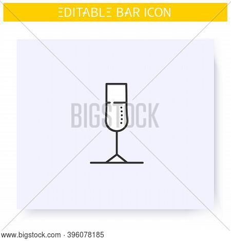 Champagne Glass Line Icon. Alcohol Stemware. Party Drink. Restaurant, Bar Menu. Cocktail Glass. Cock