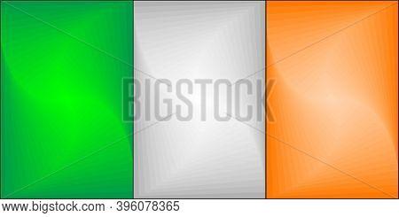 Ireland Gradient Flag - Illustration,  Three Dimensional Flag Of Ireland