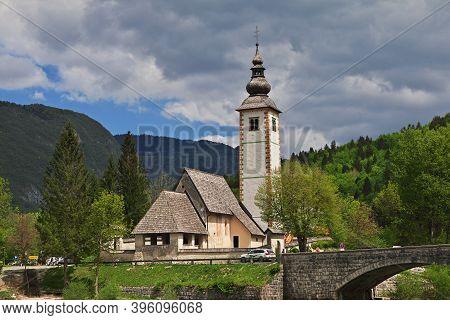 Ribcev Laz On Bohinj Lake, Triglav Natioanl Park, Slovenia