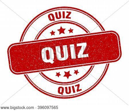 Quiz Stamp. Quiz Label. Round Grunge Sign