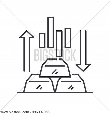 Equity Markers Icon, Linear Isolated Illustration, Thin Line Vector, Web Design Sign, Outline Concep