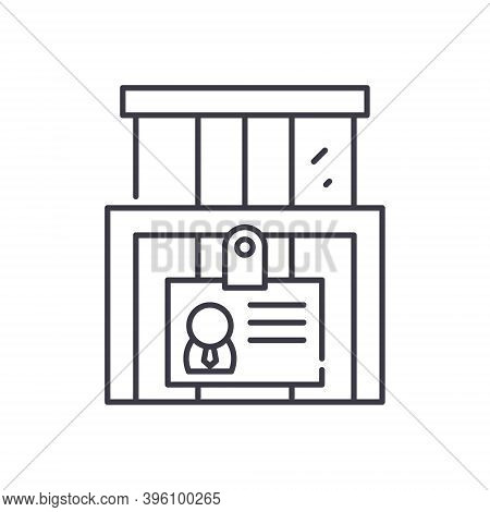 Enterprise Identity Icon, Linear Isolated Illustration, Thin Line Vector, Web Design Sign, Outline C
