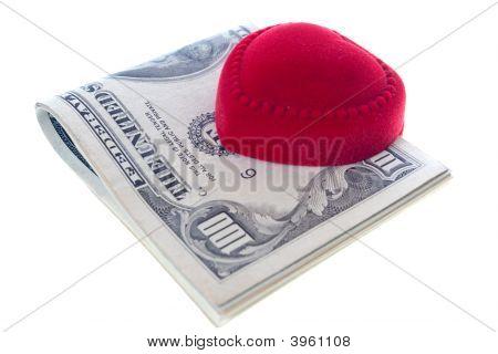 Ring Box And Money