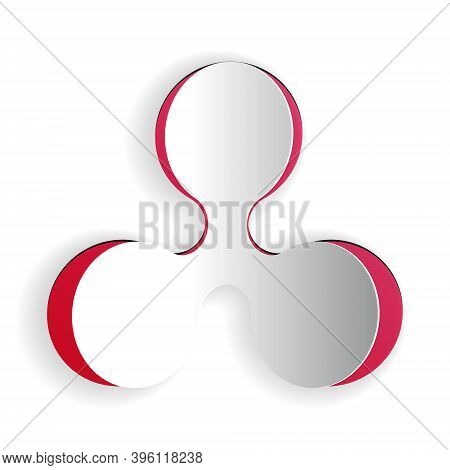 Paper Cut Cryptocurrency Coin Ripple Xrp Icon Isolated On White Background. Digital Currency. Altcoi