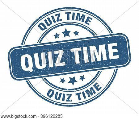Quiz Time Stamp. Quiz Time Label. Round Grunge Sign