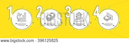 Dollar, Vip Podium And Graph Chart Line Icons Set. Timeline Process Infograph. Atm Money Sign. Usd C