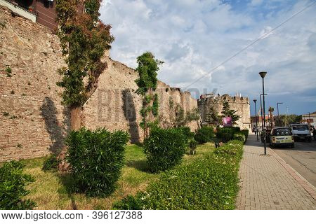 Durres, Albania - 08 May 2018: The Fortress In Durres, Albania