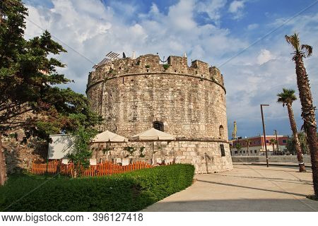 Durres, Albania - 08 May 2018: The Vintage Fortress In The Center Of Durres, Albania