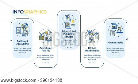 Business Advisory Service Vector Infographic Template. Auditing, Headhunting Presentation Design Ele
