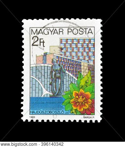 Hungary - Circa 1983: Cancelled Postage Stamp Printed By Hungary, That Shows Hajdúszoboszló Resort,