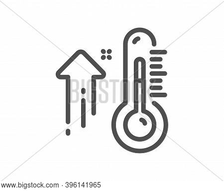 High Thermometer Line Icon. Temperature Diagnostic Sign. Fever Measuring Symbol. Quality Design Elem
