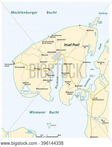 Vector Map Of The German Baltic Sea Island Poel