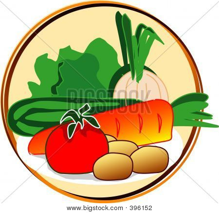 pict - vegetables - onion, carrot, etc poster