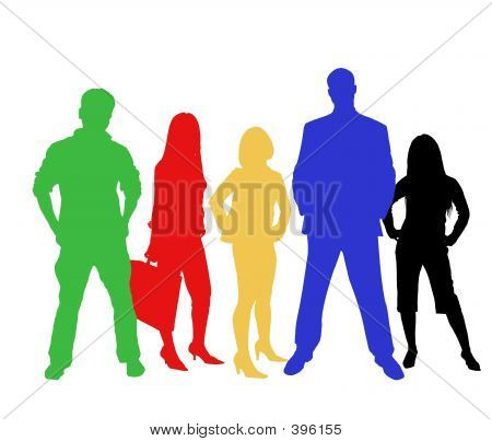 Colourful Business Team
