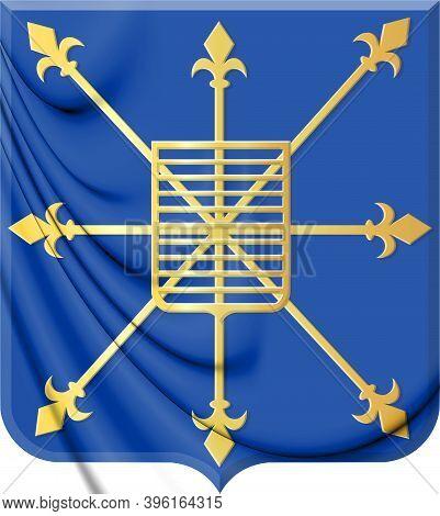 3d Uden Coat Of Arms (north Brabant), Netherlands. 3d Illustration.