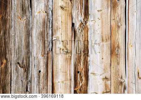 Wood Texture. Raw Brown Wooden Wall Background. Rustic Tree Desk. Knots Pattern. Countryside Archite