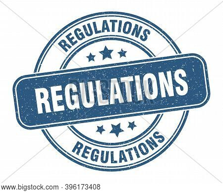 Regulations Stamp. Regulations Label. Round Grunge Sign