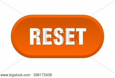 Reset Button. Rounded Sign On White Background