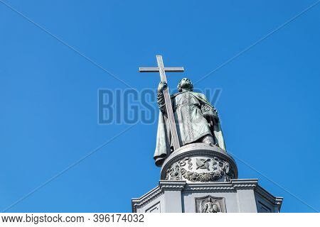 Saint Vladimir Monument In Kyiv, Dedicated To The Great Prince Of Kyiv Vladimir The Great, Built In