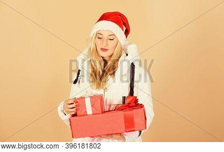 Santa Girl. Fashion Trend. Winter Season. Accessory For Celebration. Get Bonus. Christmas Gifts For