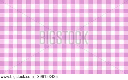 Pink White Lilac Checkered Background. Space For Graphic Design. Checkered Texture. Classic Checkere