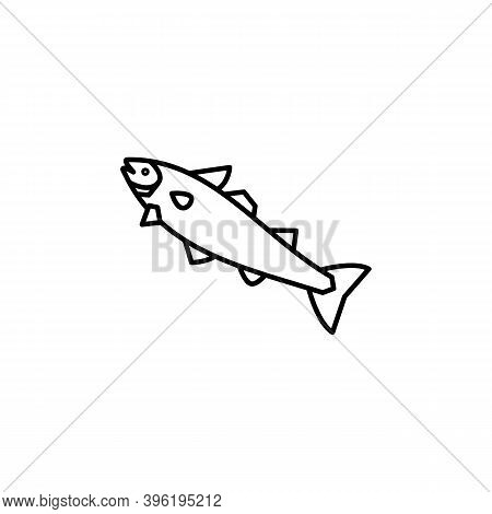 Cod, Fish Line Icon. Signs And Symbols Can Be Used For Web, Logo, Mobile App, Ui, Ux
