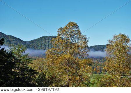 Clouds In The Mountains Landscape Background Great Smoky Mountain National Park Tennessee