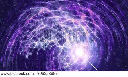 3d Rendering Illustration Of A Warp Portal To Another World To Other Dimension