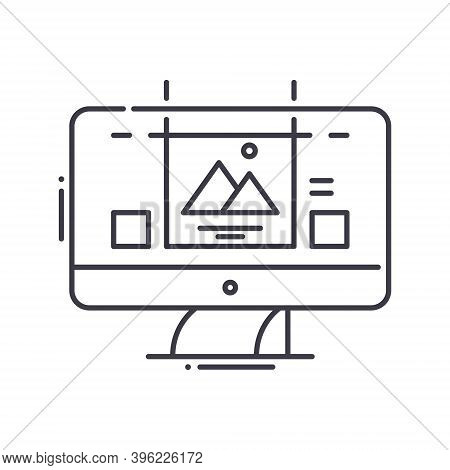 Website Prototyping Icon, Linear Isolated Illustration, Thin Line Vector, Web Design Sign, Outline C
