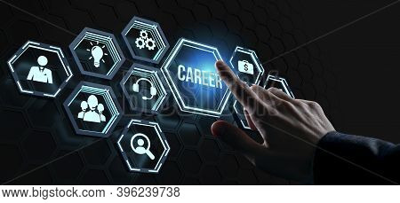 Career - Internet, Business, Technology And Network Concept.coach Motivate To Career Growth. Persona