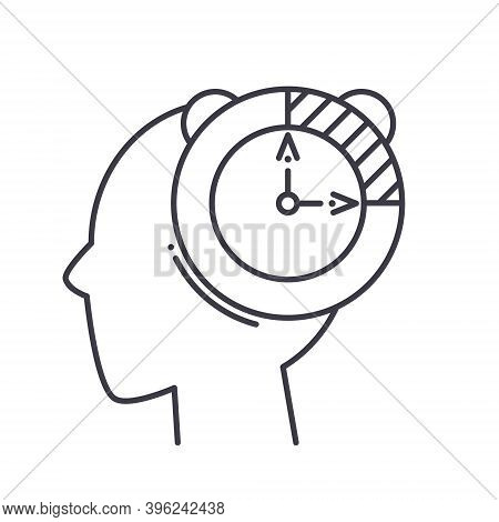 Patience Mind Icon, Linear Isolated Illustration, Thin Line Vector, Web Design Sign, Outline Concept
