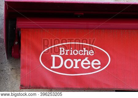 Bordeaux , Aquitaine / France - 11 11 2020 : Brioche Doree Logo Baker Sign An Text Store Bakery Shop