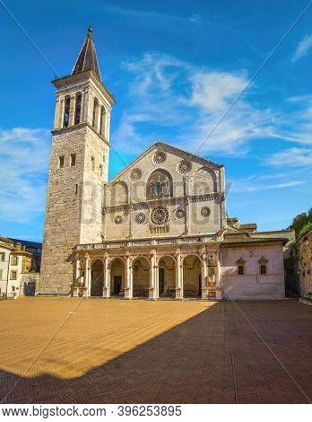 Spoleto, Santa Maria Assunta Or Saint Mary Duomo Cathedral. Perugia, Umbria, Italy, Europe.